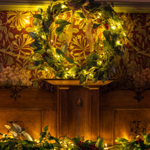 Christmas decorations at The Gaddum, Brockhole